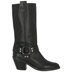 See By Chloé Women Boots Black Leather EU 39