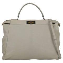 Fendi Women Handbags Peekaboo Grey Leather