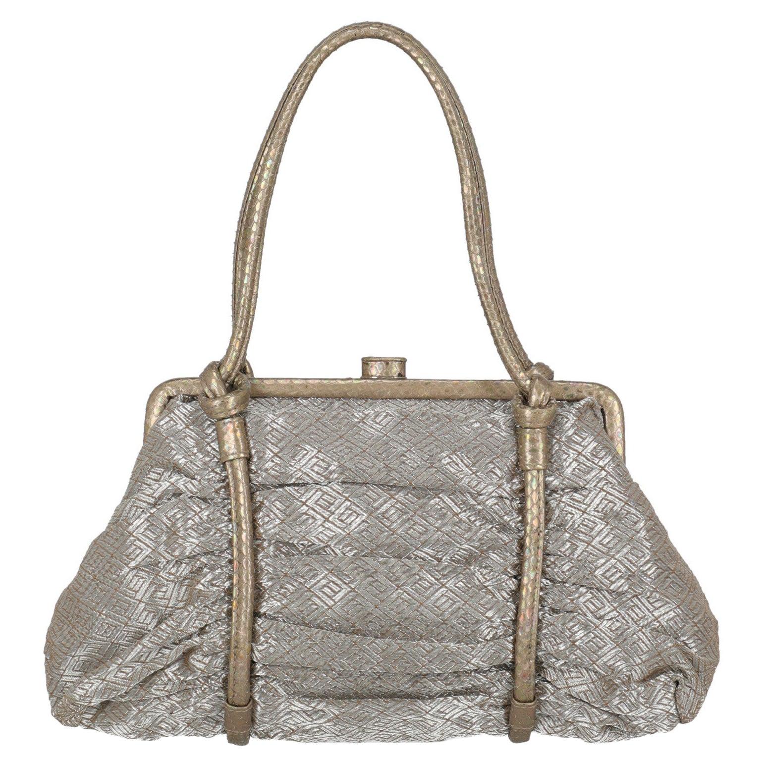 Bottega Veneta Women Handbags Gold, Silver Fabric