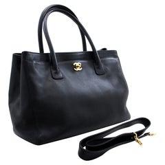 CHANEL Executive Tote 2Way Caviar Shoulder Bag Handbag Black
