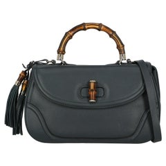 Gucci Women Shoulder bags Bamboo Navy Leather