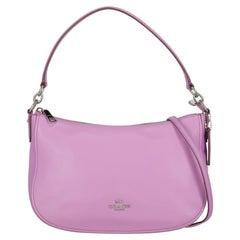 Coach Women Shoulder bags Purple Leather