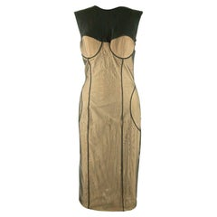 2001 Gucci by Tom Ford Black Stretch Tulle Dress