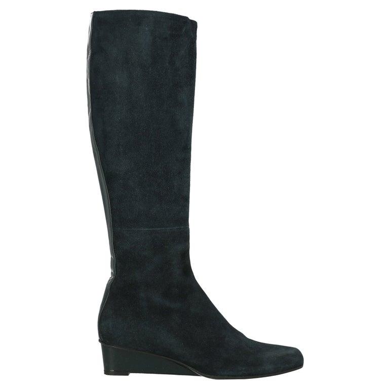 Jil Sander Women Boots Navy Leather EU 37 For Sale