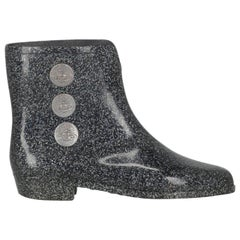Vivienne Westwood Anglomania Women Ankle boots Navy, Silver Synthetic Fibers EU