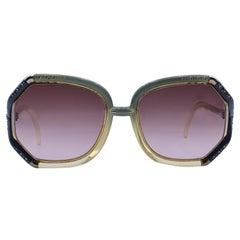 Ted Lapidus Vintage Bicolor TL10 Rhinestones Sunglasses 56/10 140mm