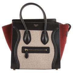 Celine Tricolor Luggage Bag Felt Micro
