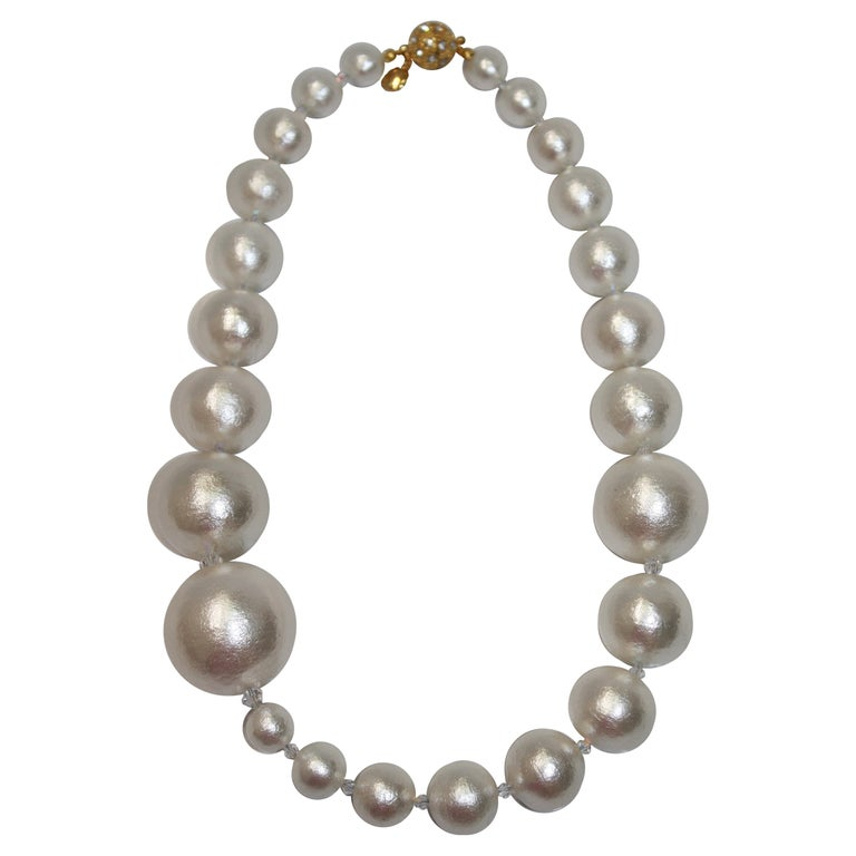 Asymmetric Compressed Cotton Pearl strand For Sale