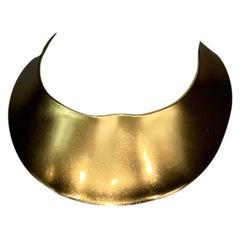 F/W 1997 Christian Dior John Galliano Wide Gold Choker Necklace