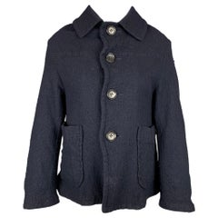 COMME des GARCONS TRICOT Size S Navy Textured Wool Jacket