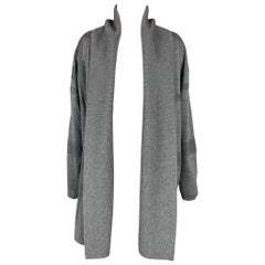 BURBERRY LONDON Olona Size S Grey & Charcoal Merino Wool Cardigan