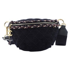 Chanel Waist Bag Quilted Denim and Tweed