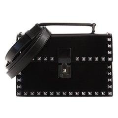 Valentino Rockstud Top Handle Crossbody Bag Leather Small