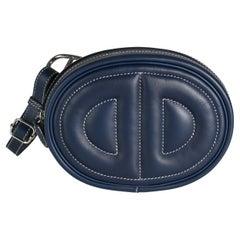 Hermès Bleu Encre Swift In The Loop Belt Bag PHW