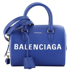 Balenciaga Logo Ville Bowling Bag Leather Small