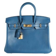 Hermès Deep Blue Swift Birkin 25 GHW