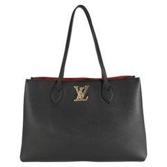 Louis Vuitton Black Calfskin Lockme Shopper