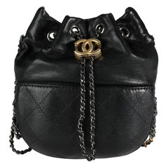 Chanel Black Quilted Calfskin Small Gabrielle Bucket Bag