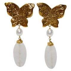 Vintage Goossens for YSL Butterfly Drop Earring Circa 1980