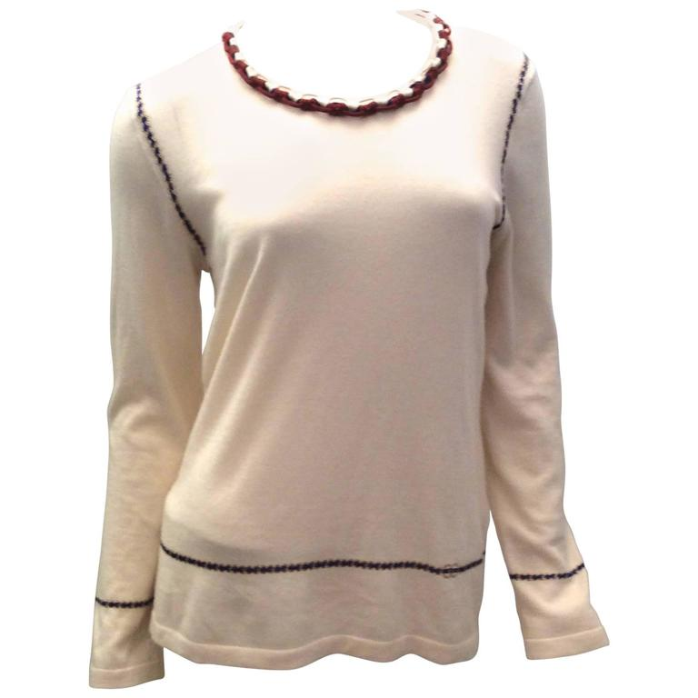 Vintage Chanel Cashmere Sweater - Size Small For Sale