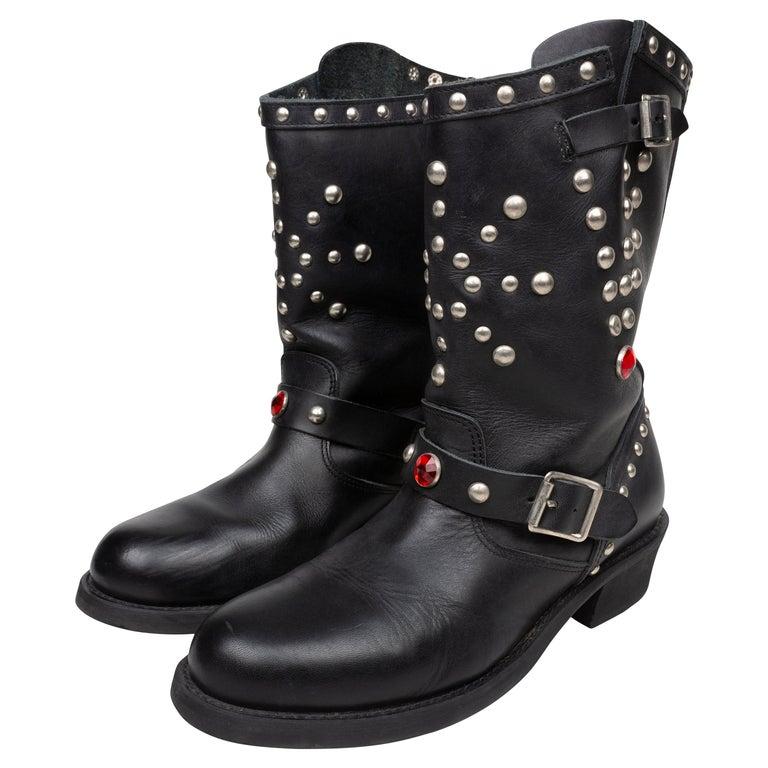 Junya Watanabe AW2002 Studded Engineer Boots For Sale