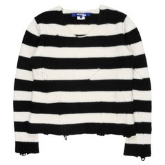 Junya Watanabe AW2014 Distressed Striped Sweater