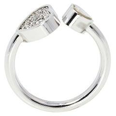 Chopard Happy Hearts Diamond 18K White Gold Ring Size 54