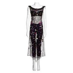 Dolce & Gabbana floral silk dress, bra and leggings ensemble, fw 1999