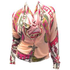 New Emilio Pucci Cardigan with Matching Silk Scarf