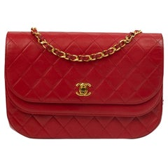 Chanel, Vintage in red leather