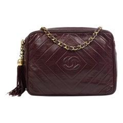 Chanel, Vintage in burgundy leather
