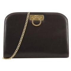Salvatore Ferragamo Vintage Gancini Chain Shoulder Bag Leather Medium