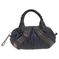 Fendi Blue Denim and Coated Fabric Baby Spy Bag