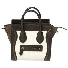 Celine Tricolor Leather Nano Luggage Tote