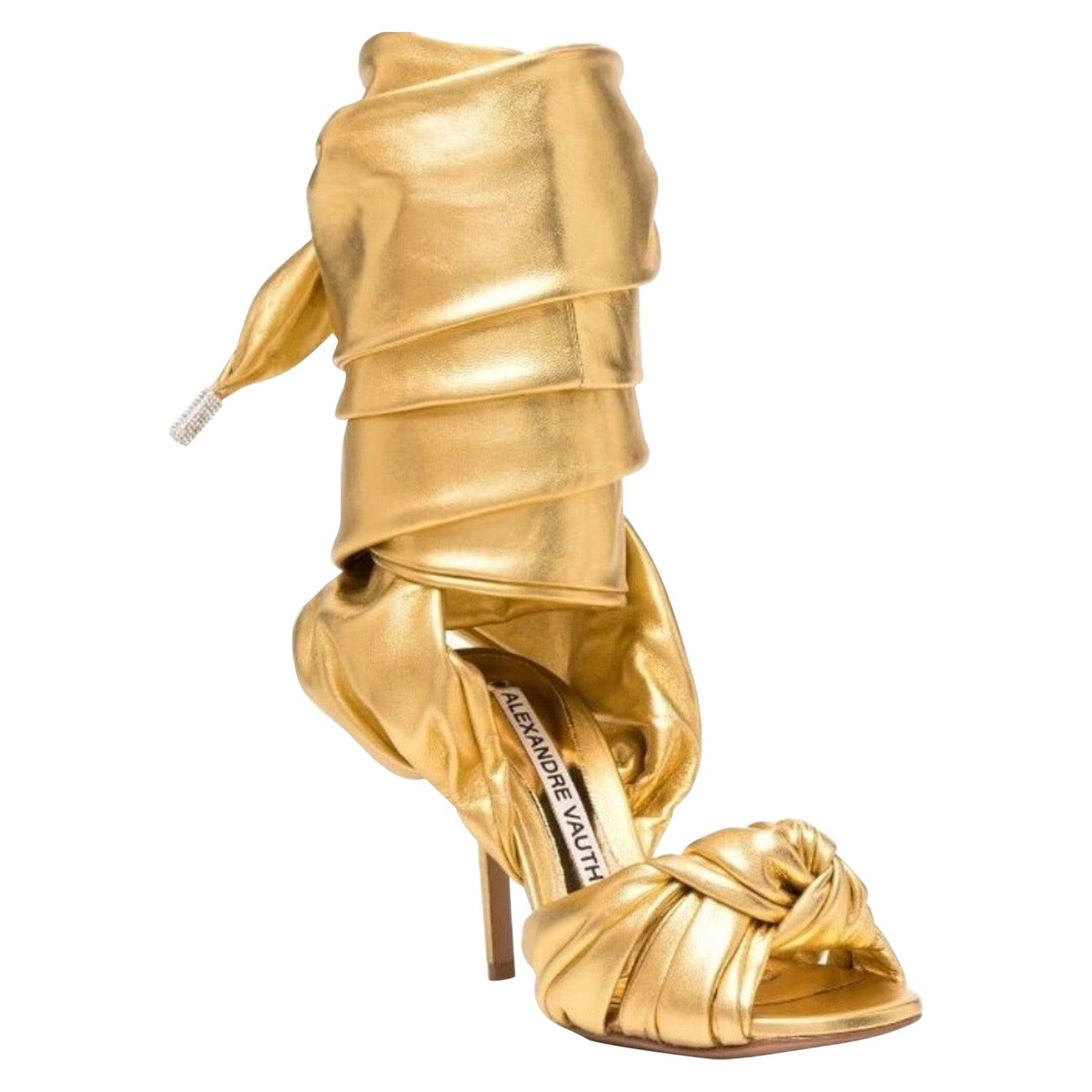 ALEXANDRE VAUTHIER Leila Stiletto Sandals In Gold