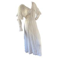Just Cavalli Romantic Vintage White Dress w Bead Fringe by Roberto Cavalli NWT