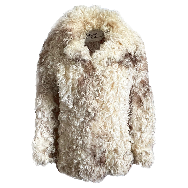Donald Brooks Jacket Mongolian Lamb & Suede Leather Vintage 70s Rare