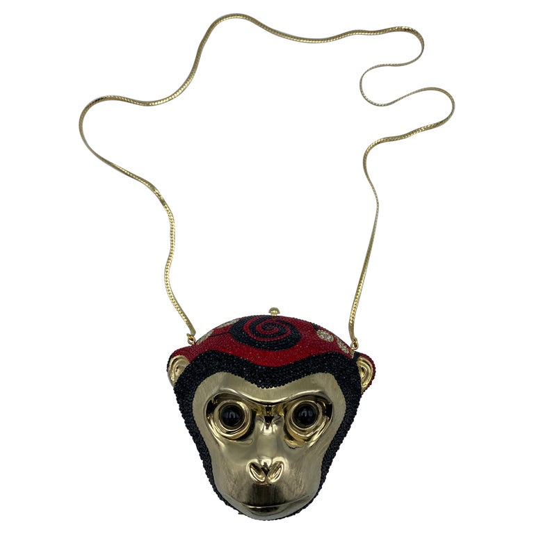 Vintage Judith Leiber Monkey Crossbody Clutch Handbag  For Sale