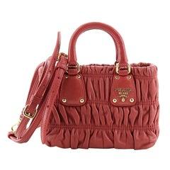 Prada Gaufre Convertible Tote Nappa Leather Mini