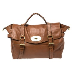 Mulberry Brown Leather Oversized Alexa Satchel
