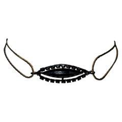 Vintage 1990's Christian Dior John Galliano Third Eye Chakra Choker Necklace