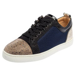Christian Louboutin Multicolor And Leather Louis Junior Low Top Sneakers Size 42