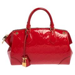 Louis Vuitton Cerise Monogram Vernis Santa Monica Bag