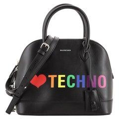Balenciaga Logo Ville Bag Printed Leather Small