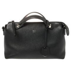 Fendi Black Leather Small By The Way Boston Bag