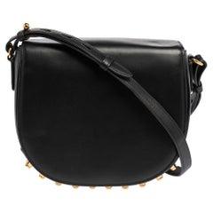 Alexander Wang Black Leather Studded Lia Shoulder Bag