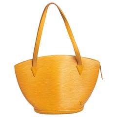 Louis Vuitton Tassil Yellow Epi Leather Saint Jacques Tote GM