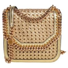 Stella McCartney Woven Faux Leather Medium Falabella Box Shoulder Bag