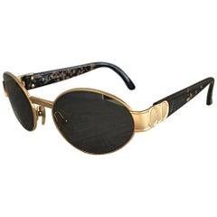 "Rare Vintage Christian Dior 1990s Round "" CD "" Logo Tortoise Sunglasses Glasses"