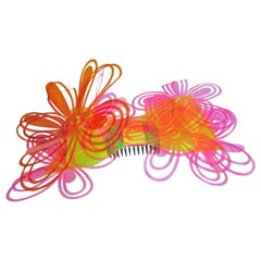 Chanel Large Rainbow Flower Hair Pin, S / S 1995
